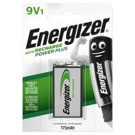 Energizer Power Plus 9V PP3 6HR61 175mAh Rechargeable Battery | 1 Pack