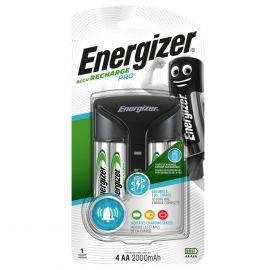 Energizer Pro Battery Charger | Inc 4 x AA 2000mAh Rechargeable Batteries