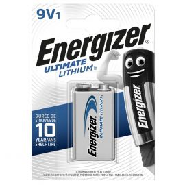 Energizer Ultimate Lithium 9V PP3 6LR61 Battery | 1 Pack