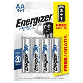 Energizer Ultimate Lithium AA LR6 L91 Batteries | 4 Pack