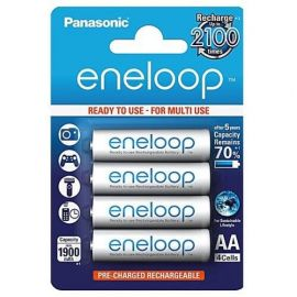 Panasonic Eneloop AA HR6 1900mAh Rechargeable Batteries | 4 Pack