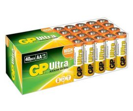 GP Ultra AA LR6 Alkaline Batteries | 40 Bulk Pack