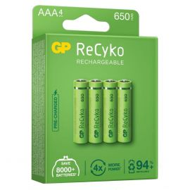 GP ReCyko+ AAA HR03 650mAh Rechargeable Batteries | 4 Pack