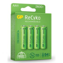 GP ReCyko+ AA HR6 2600mAh Rechargeable Batteries | 4 Pack