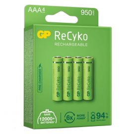 GP ReCyko+ AAA HR03 950mAh Rechargeable Batteries | 4 Pack