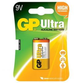 GP Ultra Alkaline 9V PP3 6LR61 Battery | 1 Pack