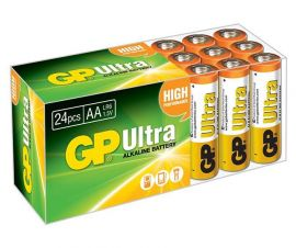 GP Ultra AA LR6 Alkaline Batteries | 24 Bulk Pack