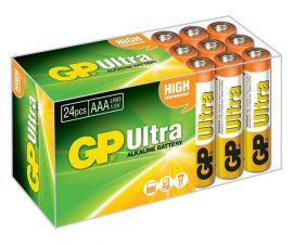 GP Ultra AAA LR03 Alkaline Batteries | 24 Bulk Pack