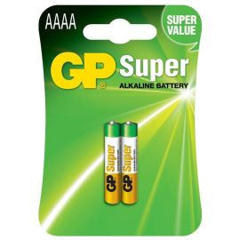 GP Super Alkaline AAAA Batteries | 2 Pack