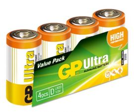 GP Ultra Alkaline D LR20 Batteries | 4 Pack