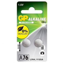 GP LR44 A76 Button Cell Batteries | 2 Pack