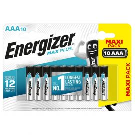 Energizer Max Plus AAA LR03 Batteries | 10 Pack