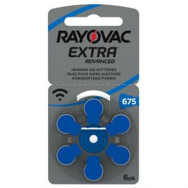 Rayovac Extra Hearing Aid Batteries | Size 675 | Blue | 6 Pack