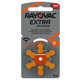 Rayovac Extra Hearing Aid Batteries | Size 13 | Orange | 6 Pack