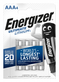 Energizer Ultimate Lithium AAA LR03 L92 Batteries | 4 Pack