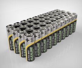 Ultramax AA LR6 Alkaline Batteries | 40 Bulk Pack
