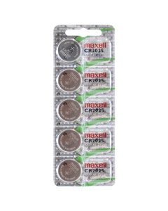 Maxell CR2025 Coin Cell Batteries | 5 Pack