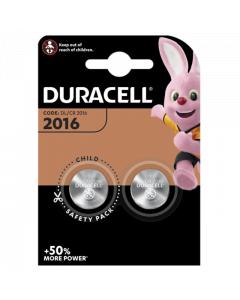 Duracell CR2016 DL2016 Coin Cell Lithium Batteries | 2 Pack