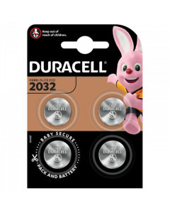Duracell CR2032 DL2032 Coin Cell Lithium Batteries | 4 Pack