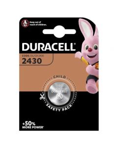 Duracell CR2430 Coin Cell Lithium Battery | 1 Pack