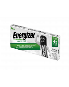 Energizer Power Plus AA HR6 Pre-Charged 2000mAh Rechargeable Batteries | 10 Bulk Pack