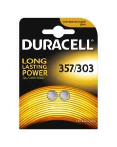 Duracell 357/303 SR44W Button Cell Batteries | 2 Pack