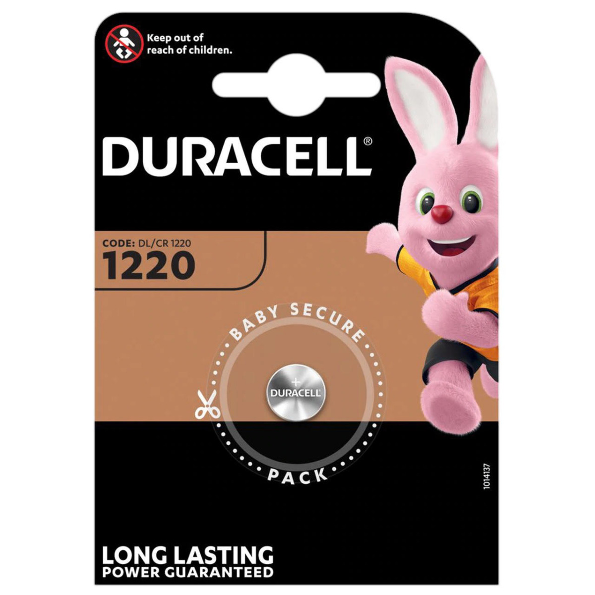 Duracell CR1220 DL1220 Coin Cell Lithium Battery   1 Pack