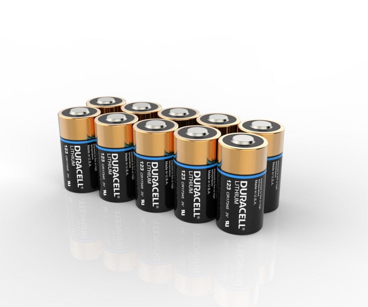 Duracell Lithium DL123 CR123A Batteries | 10 Pack