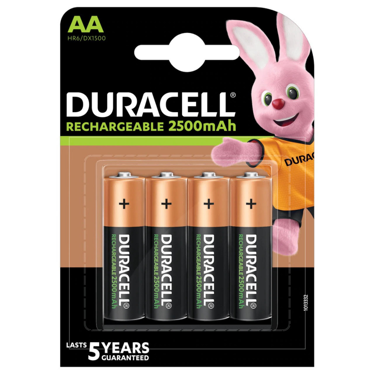 Duracell Rechargeable AA HR6 2500mAh Pre-Charged Rechrageable Batteries | 4 Pack