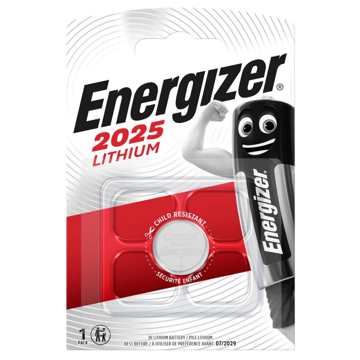 Energizer CR2025 Lithium Coin Cell Battery   1 Pack