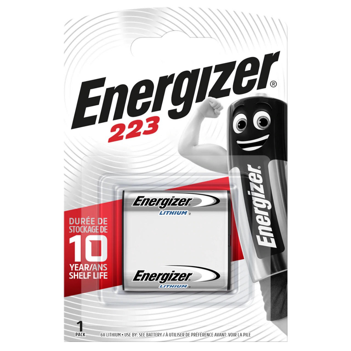 Energizer 223 CRP2P Lithium Battery | 1 pack