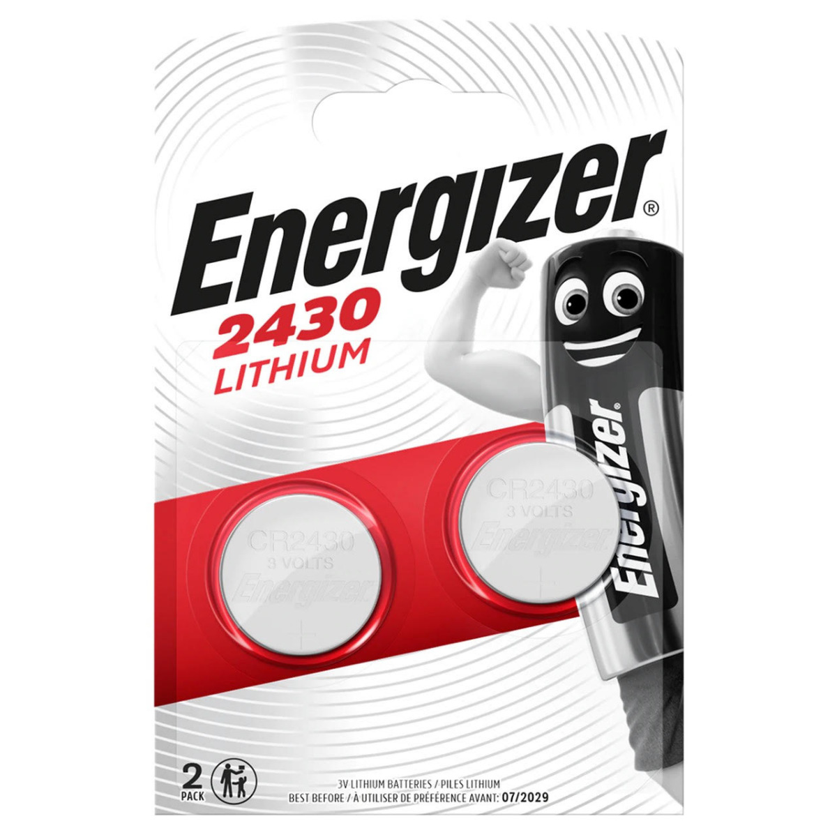 Energizer CR2430 Coin Cell 3V Lithium Batteries | 2 Pack