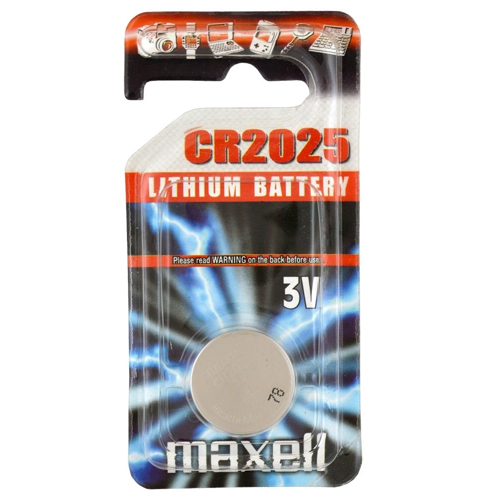 Maxell CR2025 Coin Cell Battery   1 Pack