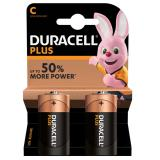 Duracell Plus C LR14 Batteries | 2 Pack