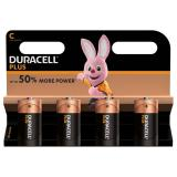 Duracell Plus C LR14 Batteries | 4 Pack