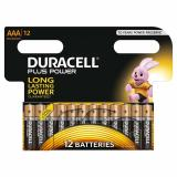 Duracell Plus Power AAA LR03 Batteries | 12 Pack